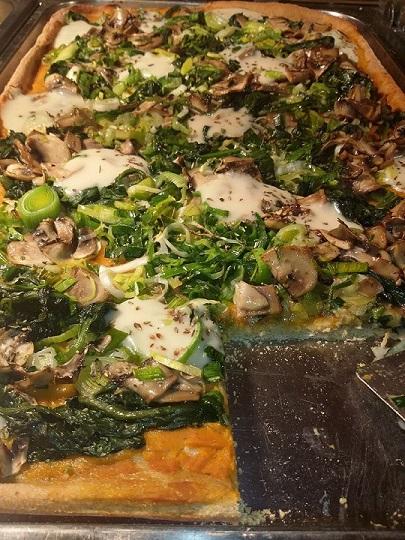 Pizza Vegan Funghi e Porri