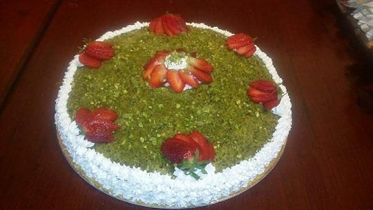 Torta pistacchi vegana