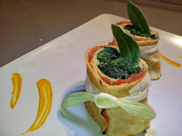 Cappello di Peter Pan Roll di Ceci agli Spinaci - Secondo Vegano Senza Glutine