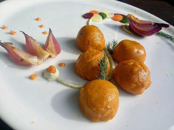 Gnocchi Gourmet Vegani alla Carota con Cipolla in Agrodolce - Integrali e Senza Glutine