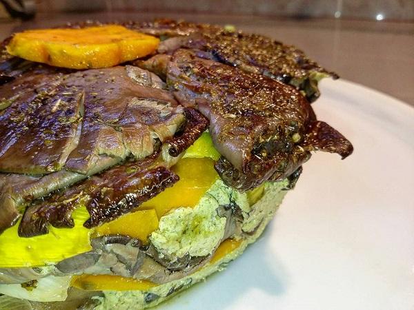 Lasagna Vegana di Verdure Zucca, Porri e Funghi Pleurotus