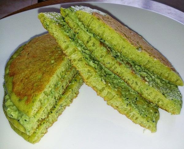 Pancake Salati di Ceci al Pesto di Aneto e Finocchietto Selvatico